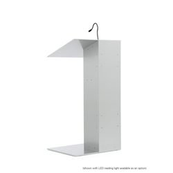 K1 Contemporary Aluminum Asymmetrical Full Floor Lectern with Shelf
