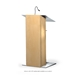 Urbann K2 Contemporary Natural Wood and Aluminum Full Floor Lectern with Shelf - K2N-V18
