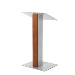 Y5 Contemporary Whisky Wood and Aluminum Full Floor Lectern