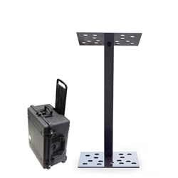 Y7 Portable Contemporary Charcoal Aluminum Full Floor Modular Lectern with Carry Case
