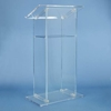 Traditional RTA Clear Acrylic Full Floor Lectern
