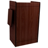 Mobile Multimedia Presentation Lectern with Mahogany Finish