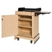 Mobile Multimedia Presentation Lectern with Maple Finish - SN3230-Maple