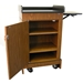 Mobile Multimedia Presentation Lectern with Walnut Finish - SN3230-WT