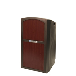 Pinnacle Rugged Plastic Full Floor Lectern with Mahogany Panels Amplivox,SN3250Mahogany