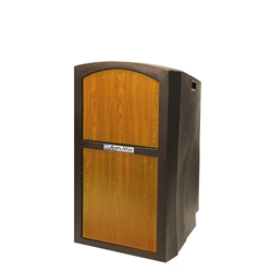 Pinnacle Rugged Plastic Full Floor Lectern with Medium Oak Panels Amplivox,SN3250Medium Oak