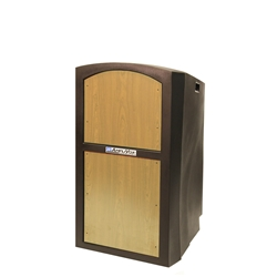 Pinnacle Rugged Plastic Full Floor Lectern with Maple Panels Amplivox,SN3250Maple