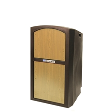 SN3250 - Pinnacle Rugged Plastic Full Floor Lectern with Maple Panels Amplivox,SN3250Maple