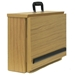 EZ Speak Folding Tabletop Lectern with Easy Grip Handle and Oak Finish - W272-Oak
