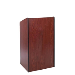 Presidential Plus Full Floor Lectern with Mahogany Finish Amplivox,W450Mahogany