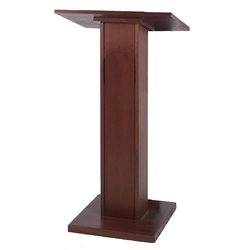 Elite Full Height Floor Lectern with Mahogany Finish Amplivox,W355Mahogany