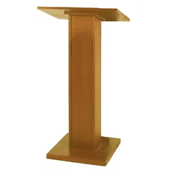 Elite Full Height Floor Lectern with Oak Finish Amplivox,W355Medium Oak
