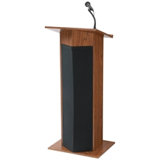 111PLS - Power Plus Full Floor Lectern with Sound and Mahogany Finish Oklahoma Sound,111PLSMahogany