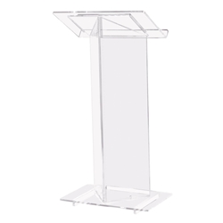 410 - Contemporary V Style Acrylic Full Floor Lectern