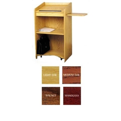 600 - The Aristocrat Full Floor Lectern with 2 Inner, 1 Slide-Out Shelf in Wild Cherry Finish Oklahoma Sound,600,Aristocrat Lectern,podiums,lecterns