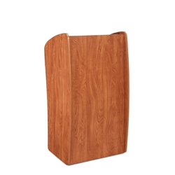611 - Vision Series Full Floor Lectern with 2 Shelves - Wild Cherry Finish