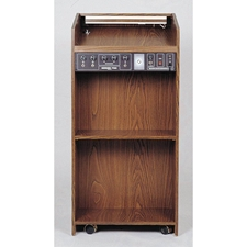 711 - The Prestige Full Floor Lectern with Sound - Medium Oak Finish Oklahoma Sound,711Medium Oak