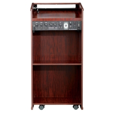 711 - The Prestige Full Floor Lectern with Sound - Mahogany Finish Oklahoma Sound,711Mahogany