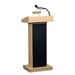 "800X - The Orator 46""H Full Floor Lectern with Sound in Mahogany Finish - 800X-Mahogany"