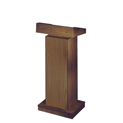 "810 - The Orator 42-52"" Height Adjusting Full Floor Lectern in Medium Oak Finish Oklahoma Sound,810Medium Oak"