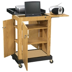 SCL - Smart Multimedia Cart/Lectern with 3 Inner Shelves and Locking Doors in Light Oak Oklahoma Sound,SCLLIGHT OAK,SCL LIGHT OAK,SCLLIGHT OAK,SCL-LIGHTOAK,SCL LIGHT OAK,SCLLIGHT OAK,SCL-LIGHTOAK