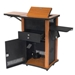 WZD - The Wizard Multimedia Presentation Center/Cart in Cherry Wood Finish - WZD