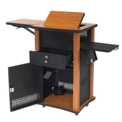WZD - The Wizard Multimedia Presentation Center/Cart in Cherry Wood Finish