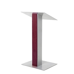 Y5 Contemporary Mahogany Wood and Aluminum Full Floor Lectern