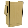 Mobile Multimedia Presentation Lectern with Maple Finish