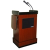 Amplivox Mobile Multimedia Presentation Lectern with Wireless Sound and Maple Finish