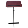 Amplivox Xpediter Adjustable Pedestal Stand Lectern with Mahogany Finish