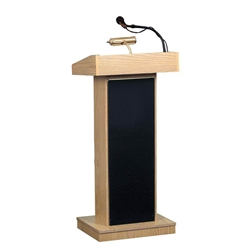 "800X - The Orator 46""H Full Floor Lectern with Sound in Mahogany Finish Oklahoma Sound,800X,Orator,Lectern,podiums,lecterns"