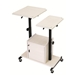 PRC300 - AV Multimedia Presentation Cart with Dual Height Adjusting/Tilting Tops and Cabinet - PRC300